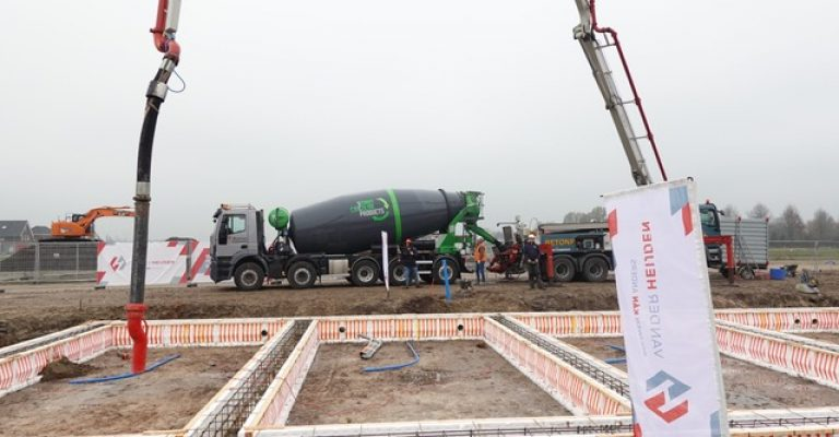 Betonwagen met circulair beton